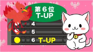 第6位はT-UP